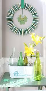 st pattys day home office decor. DIY St. Patrick\u0027s Day Clothespin Wreath St Pattys Home Office Decor .