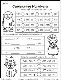Halloween Math for Second Grade--Comparing Numbers-Free | Math ...
