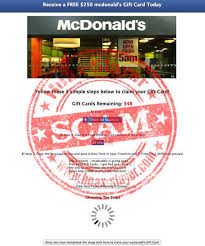 survey scam mcdonalds gift card example