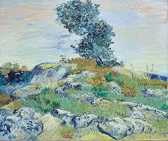 vincent van gogh rocks with oak tree 1888