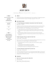 Project Management Resume Samples Technical Manager Example