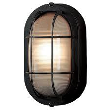 Portfolio In W Sand Black Outdoor FlushMount Light Porch - Flush mount exterior light fixtures