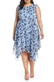Eliza J Dress Size Chart Eliza J Floral Handkerchief Hem Dress Plus Size Nordstrom Rack