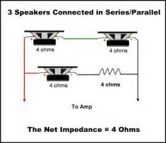 speaker wiring diagram calculator images speaker wiring guide series parallel speaker impedance