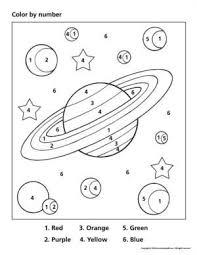 Welcome to all kids network! Space Color By Number Crafts And Worksheets For Preschool Toddler And Kindergarten Space Preschool Space Lessons Space Theme