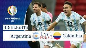 Argentina vs Colombia 1-1 (Pen 3-2 ...