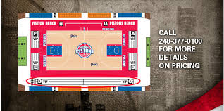 Lca Pistons Seating Chart Courtside Club Detroit Pistons