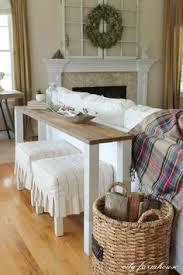 small sofa table. Looking For Some Quick And Easy Farmhouse DIYs? - Page 2 Of 2. Behind Couch Table Small Sofa