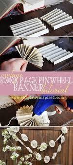 vine book page pinwheel banner tutorial