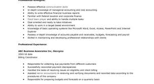 How To Write Accounting Resume Sample Achievements In Clerk An For