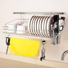 304 stainless steel dish rack wall rack <b>wall</b>-<b>mounted</b> bowl rack ...
