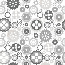 Gear Pattern Delectable Gear Cog Silhouette Seamless Pattern Stock Vector Colourbox
