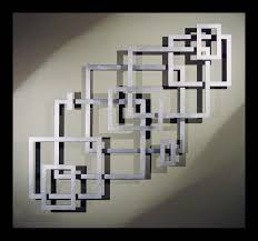 Square Metal Wall Decor Great Layout Inspiration For A Geometric Empty Frame Collage