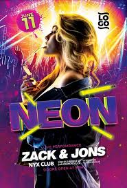 Neon Glow Party Flyer And Poster Template