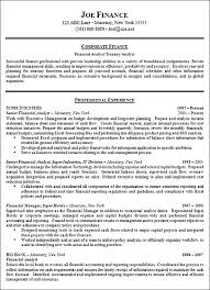 resume format for finance jobs agi mapeadosencolombia co . best ...