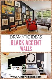 black accent wall dramatic ideas for