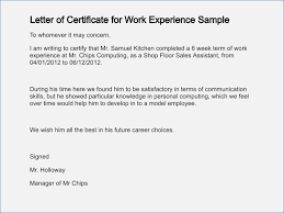 Employee Working Certificate Format Employment Certificate format Letter premiermeco 27