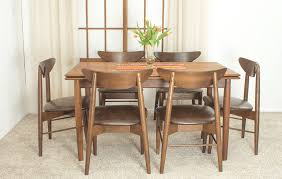 beautifully crafted danish modern table and chairs designer unknown