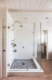 Tile shower images Farmhouse Corian Sheets Routed To Look Like Shiplap Architypesnet 10 Walk In Shower Tile Ideas That Radiate Luxury