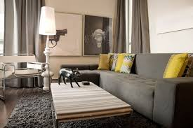 yellow and grey furniture. living room with grey sofa for elegant look in style interesting dark yellow and furniture
