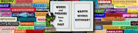 reverse dictionary s words and