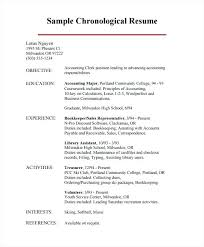 Chronological Resume Format Inspiration Chronological Resume Format Samples Hacisaecsaco
