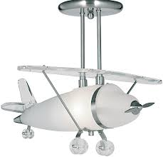 Childs Bedroom Semi Flush Aeroplane Ceiling Light