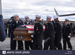 Petty Officer 1st Class Corey Ingram is returned home in a dignified  transfer at Stewart Air National Guard Base, New York, Sept. 9, 2017.  Ingram, the son of a 105th Airlift Wing