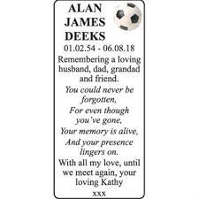 ALAN JAMES DEEKS - Memorial - East Anglian Daily Times Announcements -  Family Notices 24