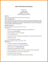 Resume Objectives For Banking Cashier Resume Samples Example 10