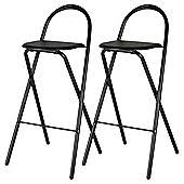 kitchen bar chairs. Pair Of Folding Bar Stools - Black Kitchen Chairs