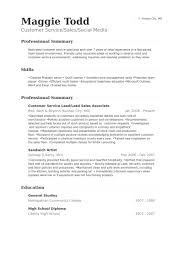 Customer Service Lead/Lead Sales Associate Resume samples. Work Experience