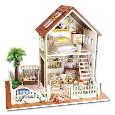 cheap wooden dollhouse furniture. Furnitures For Kids New Wooden Dollhouse Furniture Toys Handmade Gift Doll House Kits With Led Stuff Home Decor Craft Houses Miniature Cheap Bedroom Sets L