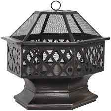 com best choice s bcp hex shaped outdoor home garden backyard fireplace garden outdoor