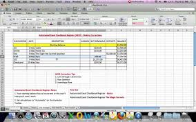 How To Make A Checkbook Register In Excel Automated Excel Checkbook Register Corrections Line