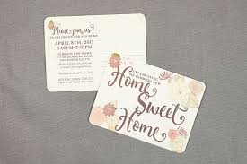 Photo Invitation Postcards Vintage Folk Floral Home Sweet Home House Warming Party Invitation Postcards New Home Announcement Moving Announcements