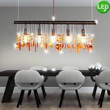 led pendant light crystal pendant in amber amelia bild 2