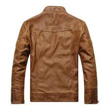 new 2018 leather jacket men slim short collar er motorcycle
