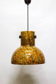 17500 Mooi Gevormde Eenvoudige Groenoranje Glazen Hanglamp