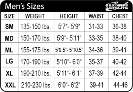 Us Divers Size Chart 52 High Quality Us Divers Youth Size Chart