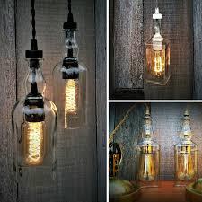 whisky bottle vintage pendant lights