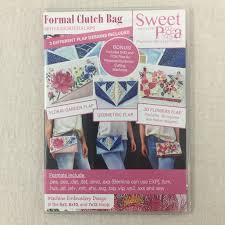 Sweet Pea Embroidery Designs Sweet Pea Formal Clutch Bag Cd