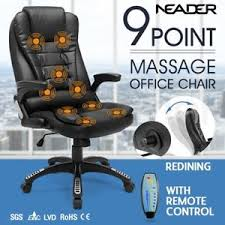 heated office chair. Image Is Loading 9-Point-Massage-Office-Computer-Chair-PU-Leather- Heated Office Chair