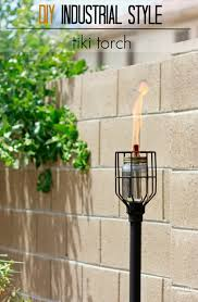 9 make a tiki torch with industrial style