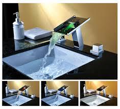 Genoa Waterfall Led Bathroom Vessel Sink Faucet