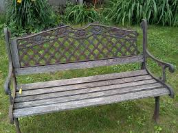 picture of restoring an old park bench