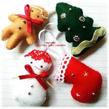 Decorazioni natalizie pannolenci feltro omino focaccina pupazzo