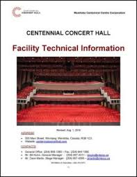 Centennial Concert Hall Seating Chart Technical Information Centennial Concert Hall