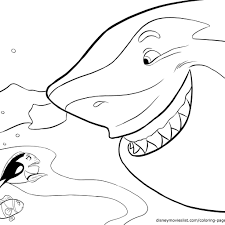 Educations Thanksgiving Nemo Coloring Pages 6 Bruce From Finding
