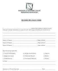 Dental Records Release Form Fresh Medical History Template Word ...